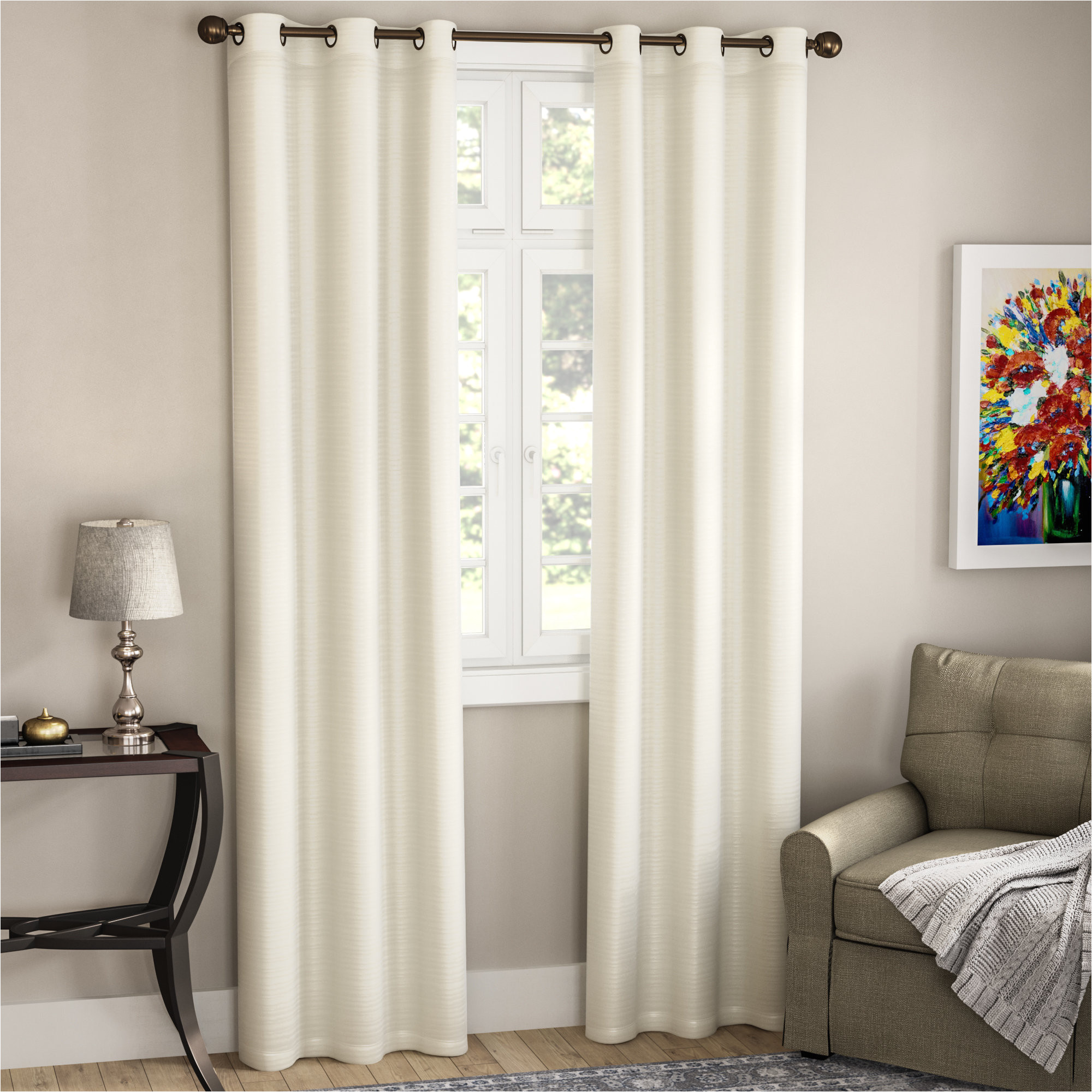 alcott hill edison solid room darkening grommet curtain panels reviews wayfair