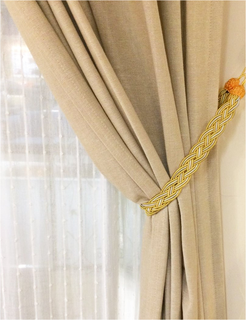 amazon com home queen hand braided curtain tie back buckle holdback drapery curtain tiebacks 2 rope belt curtain tie with 2 metal hooks