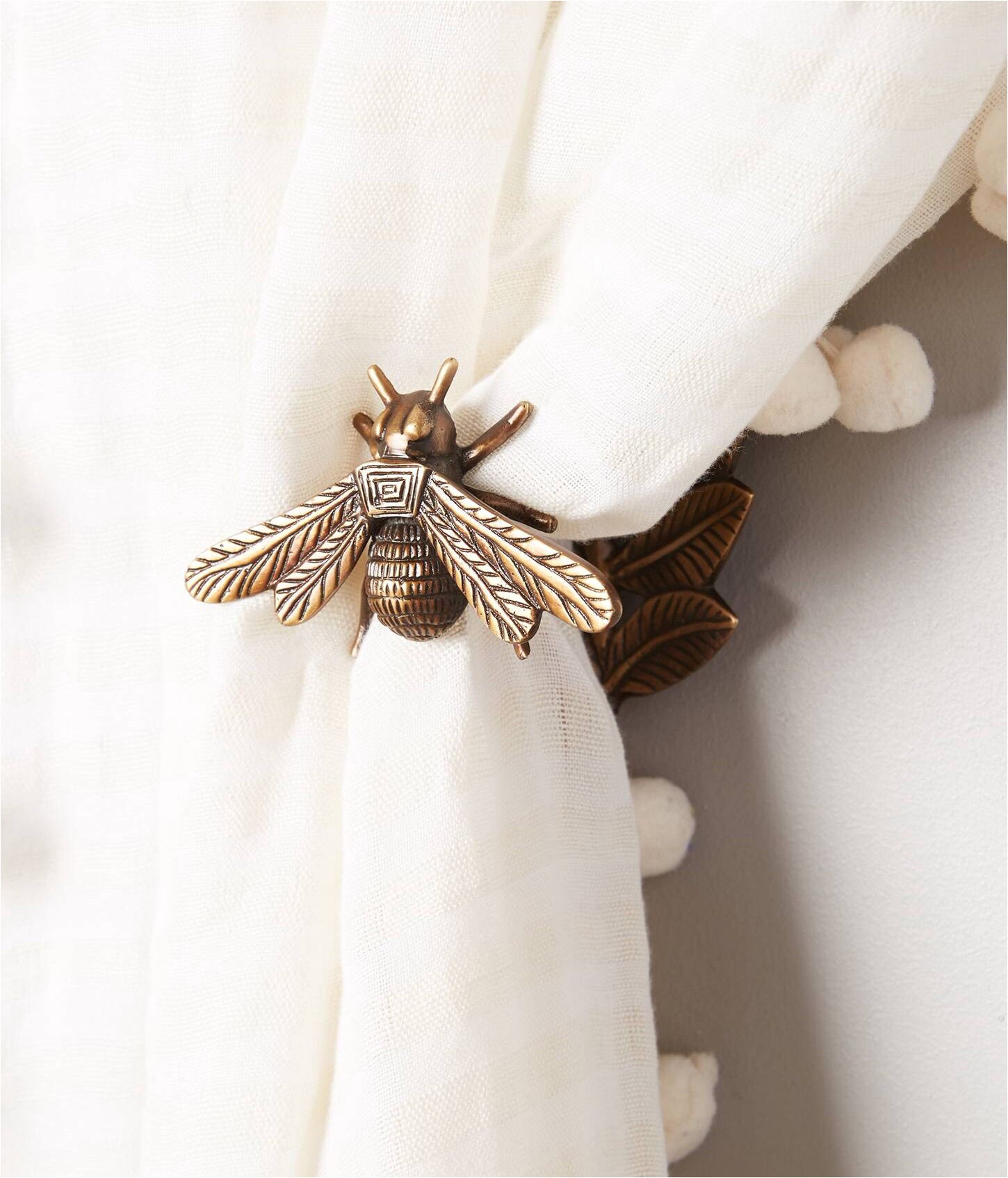 bronze bee curtain hook