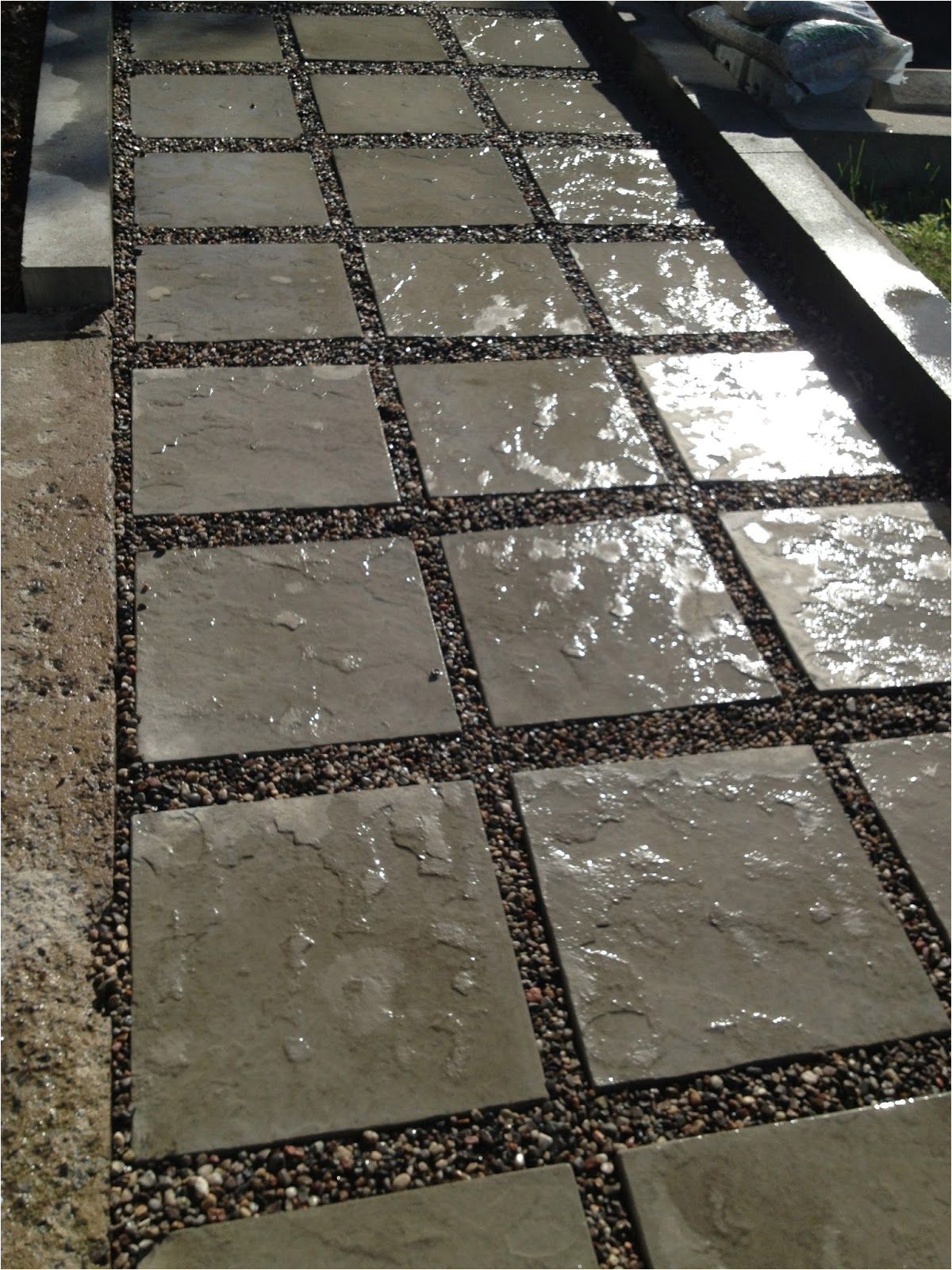 our diy front path makeover on a budget zenshmen project curb appeal flagstone pavers river rock landscaping hardscaping