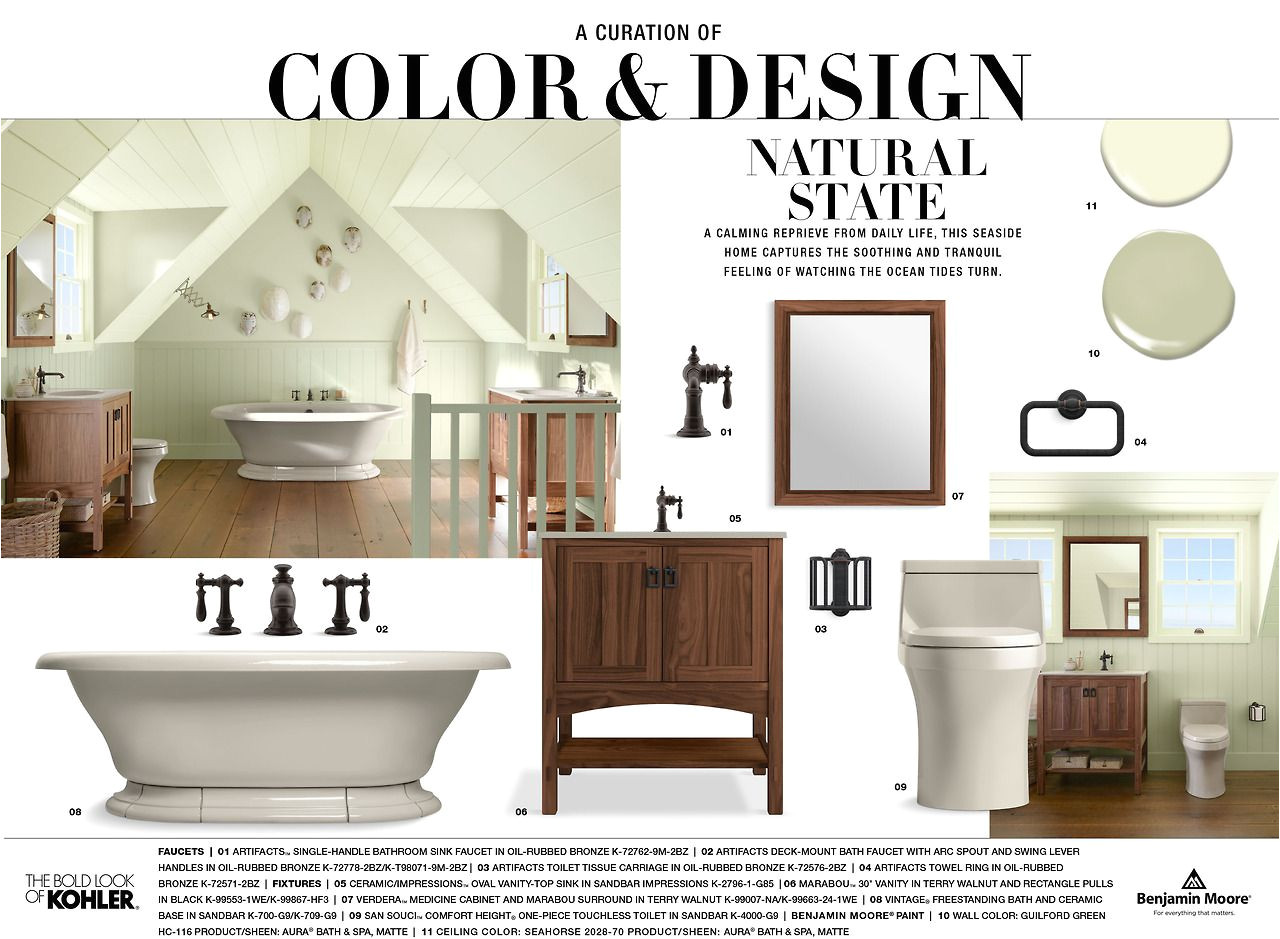 explore the inspiration behind our carmel bathroom featuring benjamin moore wall paint in guilford green