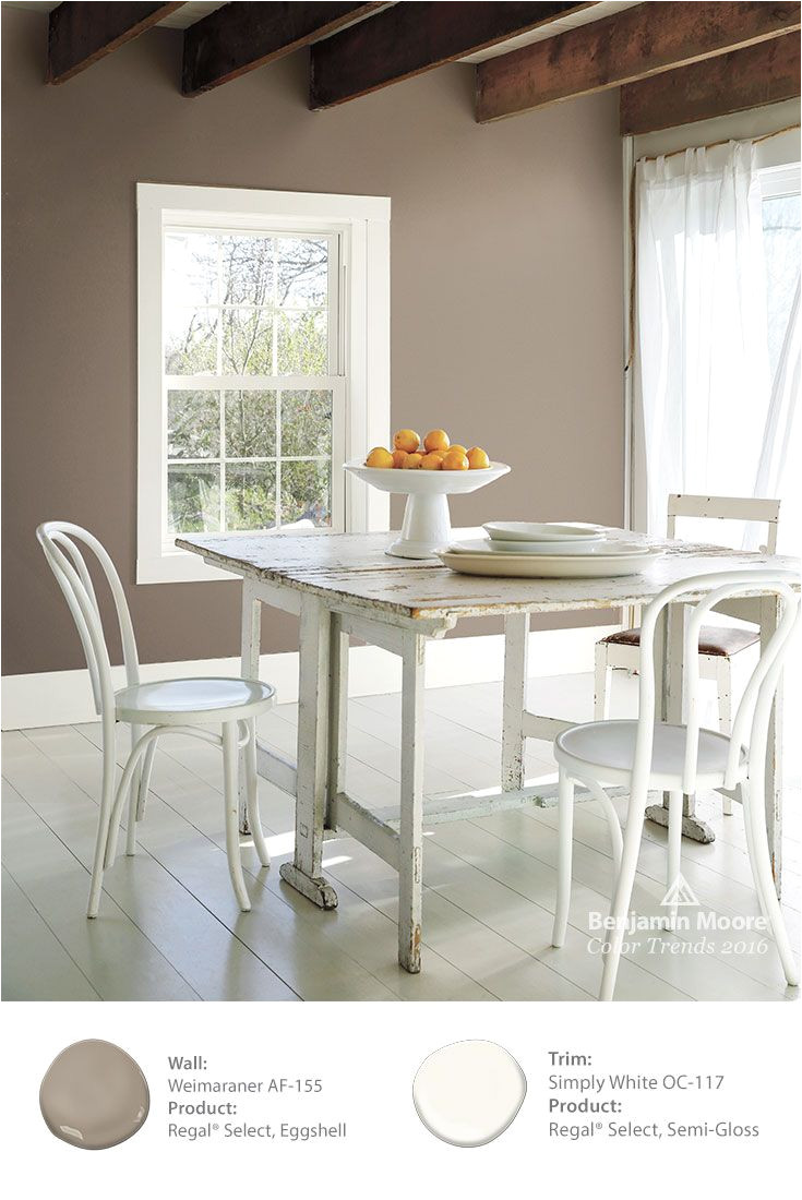 by painting the walls in benjamin moore weimaraner af 155 a level of elegance and sophistication is added to this shabby chic table