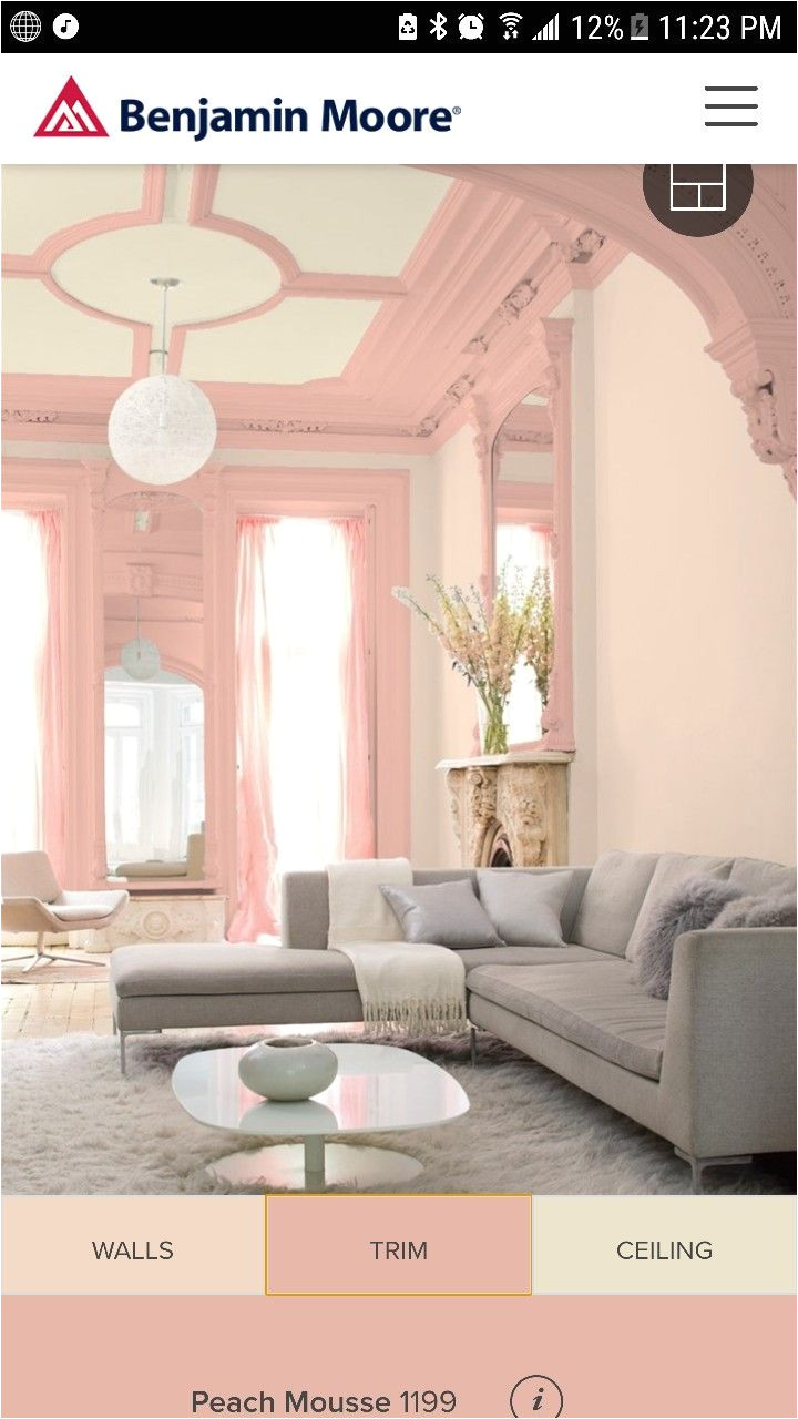 benjamin moore queen anne pink with peach mousse