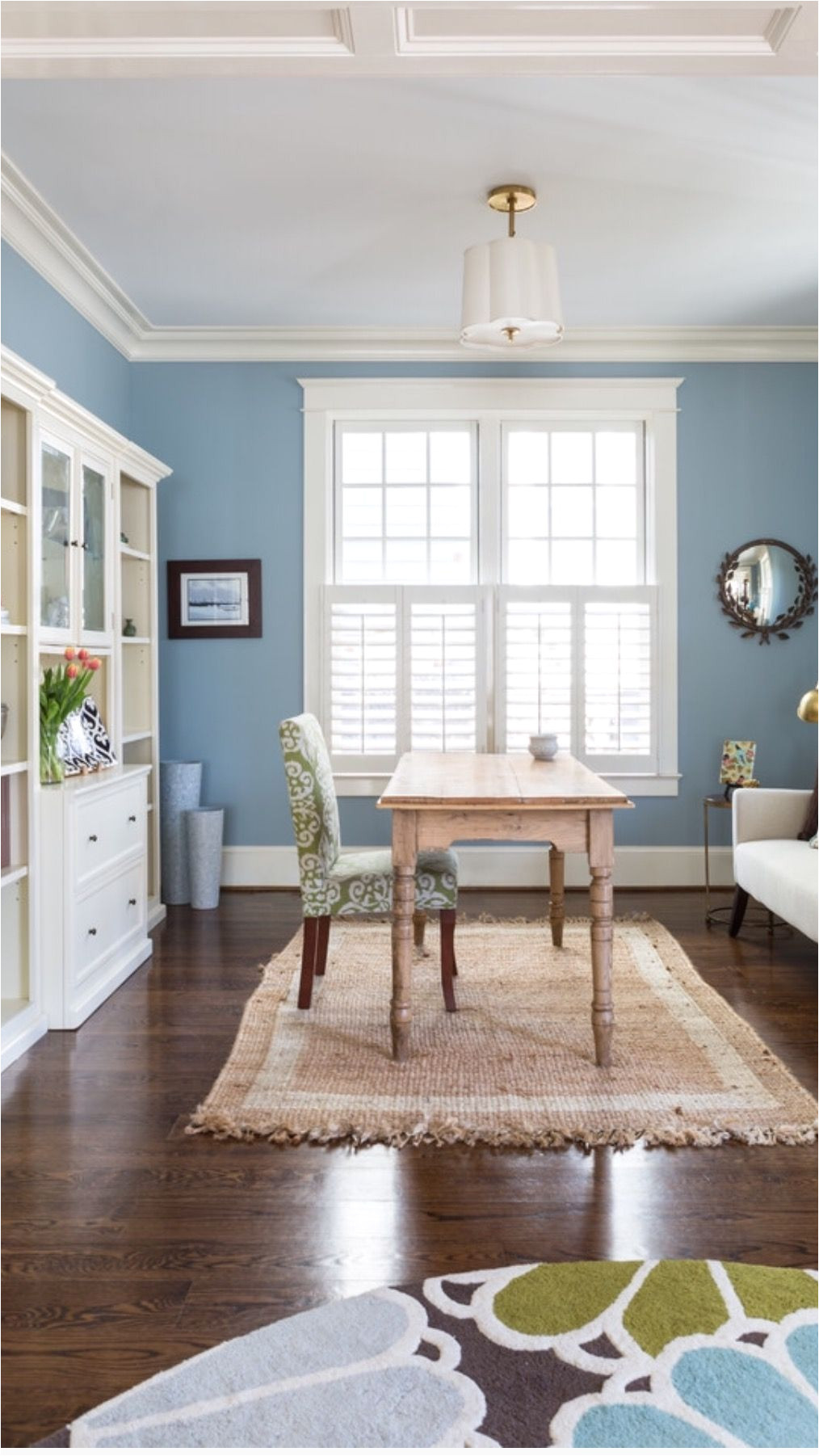 wall color santorini blue by benjamin moore room designed by liza holder homegrown decor seen on houzz