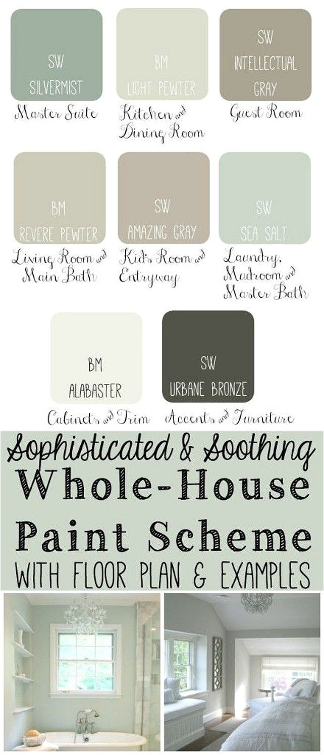 whole house paint scheme ideas master bedroom sherwin williams silvermist kitchen and dining room benjamin moore light pewter
