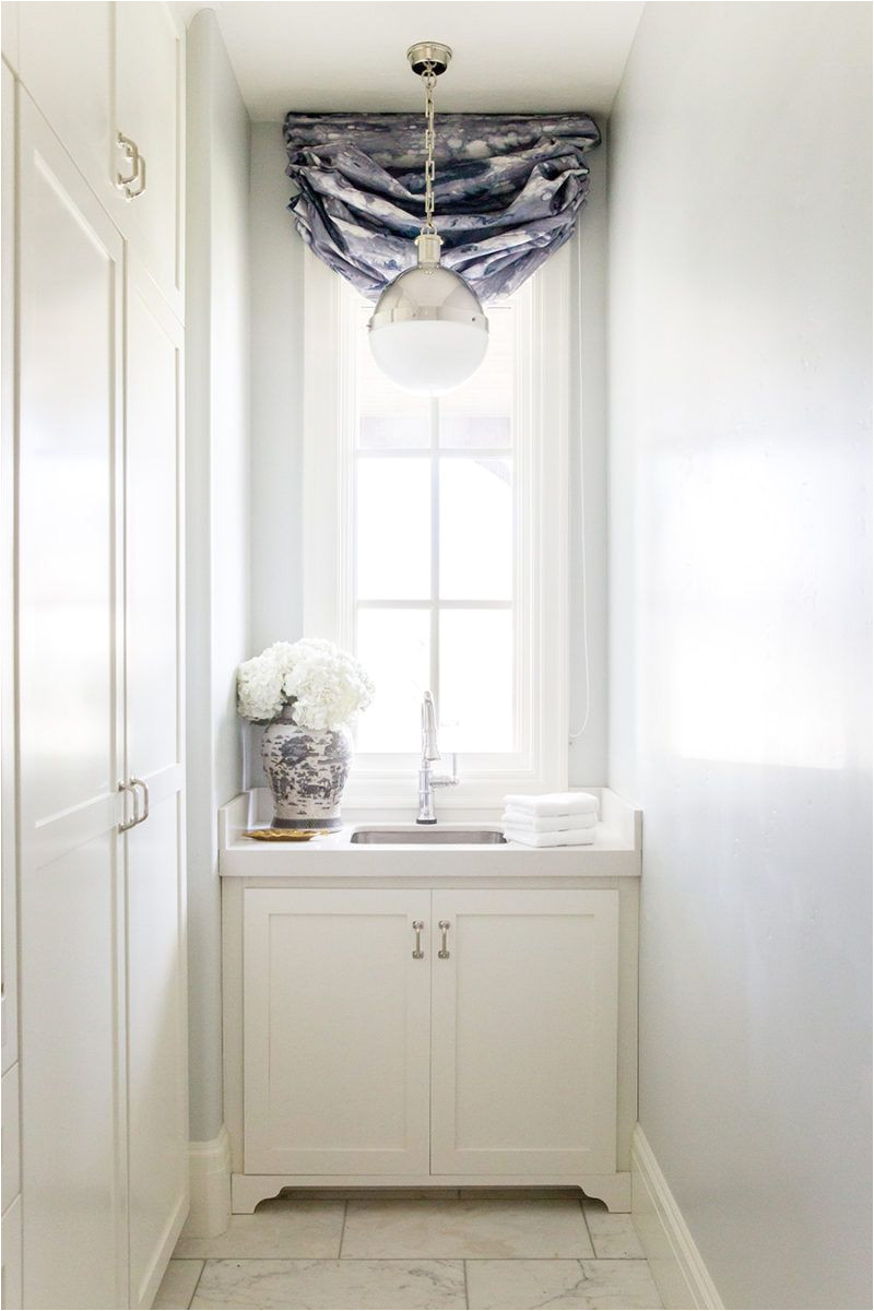 laundry room reveal benjamin moore wickham gray paint