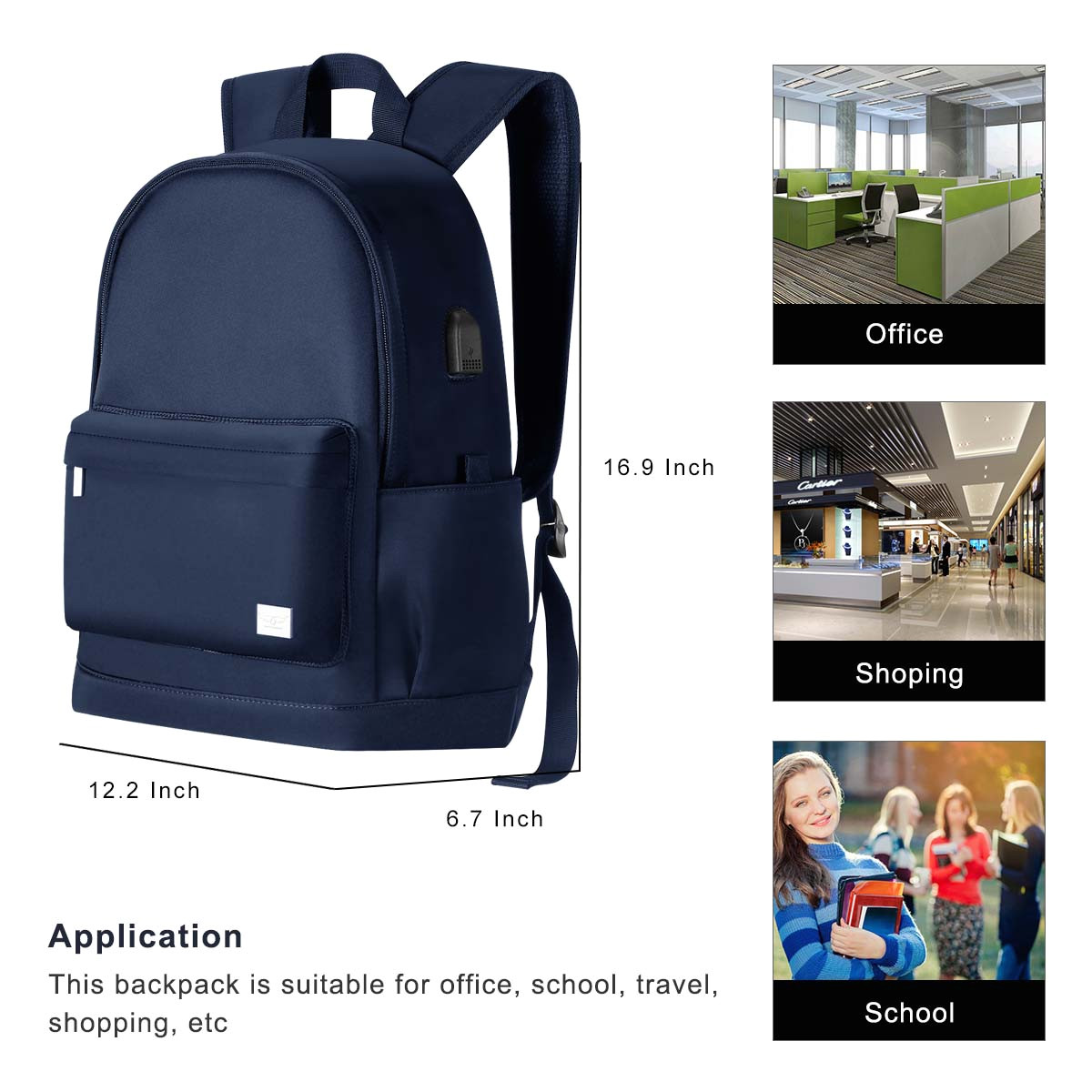 2019 christmas gift cool travel waterproof laptop backpack bookbags for teen girls boys women 797