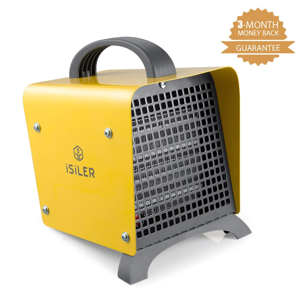 amazon com space heater isiler 1500w portable indoor heater ceramic space heater with adjustable thermostat overheat protection hot cool fan electric