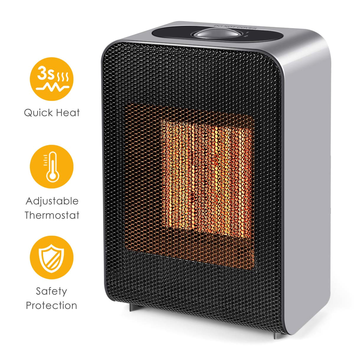 ceramic space heater indoor 750w 1500w ceramic electric heater for home office