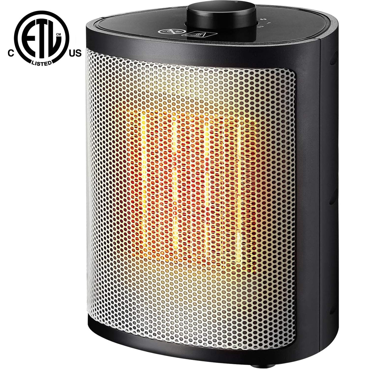 orony ceramic portable space heater with adjustable thermostat perfect for the home and office