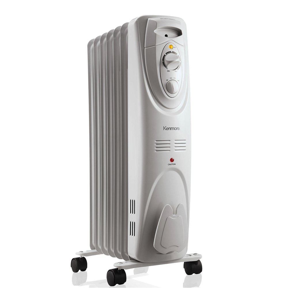amazon com kenmore oil filled radiator heater white large room heating home kitchen