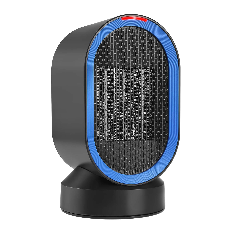 amazon com comlife portable space heater ptc ceramic heater auto oscillation etl listed small desktop heater fan over heating tip over protections