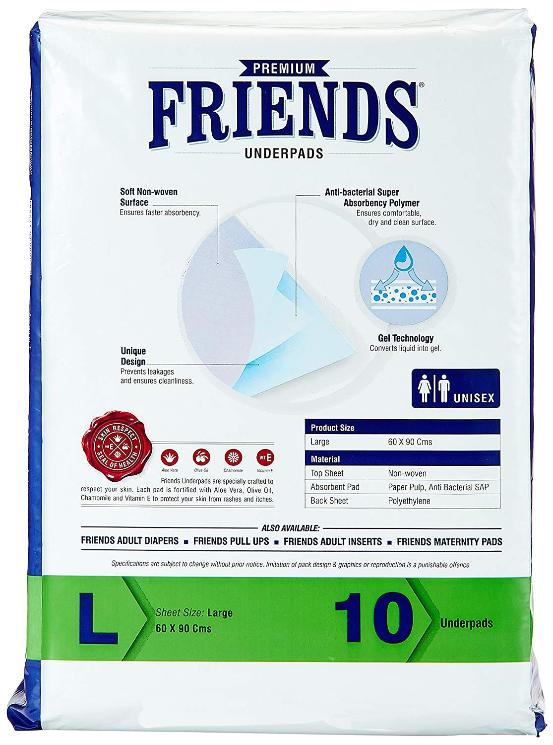 buy friends underpads premium large pack of 10 online at low prices in india amazon in