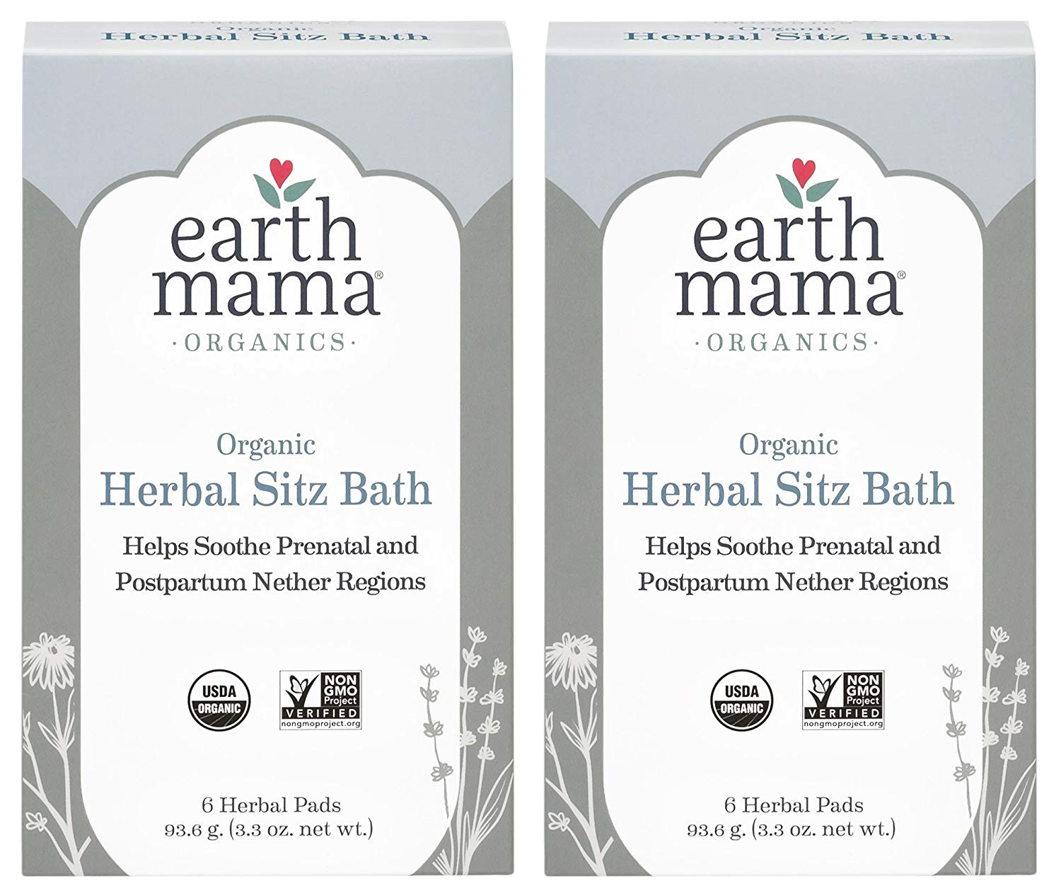 amazon com organic herbal sitz bath by earth mama soothing soak for pregnancy and postpartum care 6 count 2 pack health personal care