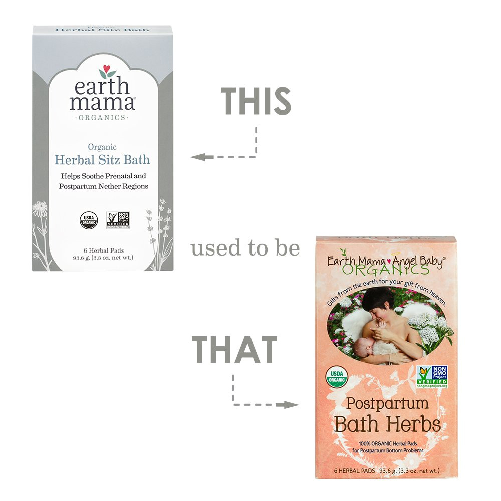 amazon com earth mama organic herbal sitz bath for pregnancy and postpartum 6 count beauty