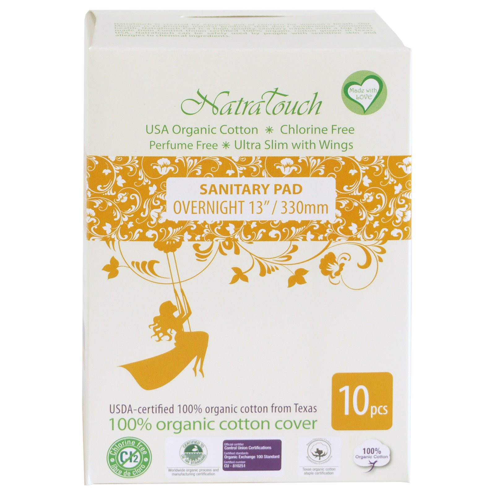 Best Pads for Postpartum Recovery Amazon Com Natratouch organic Cotton Sanitary Pads Ultra Slim with