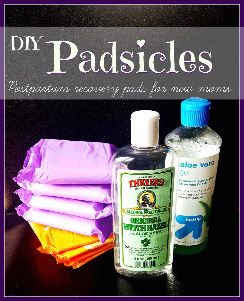 diy postpartum padsicles postpartum care postpartum recovery baby arrival baby essentials baby
