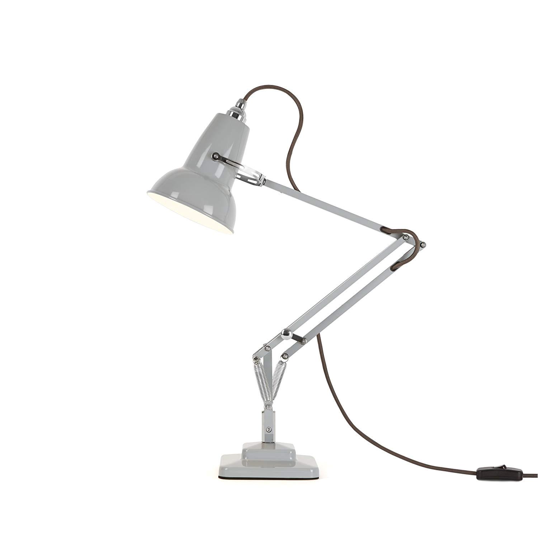 anglepoise original 1227 mini desk lamp dove grey with grey cable amazon co uk lighting