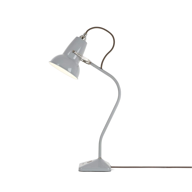anglepoise original 1227 mini table lamp dove grey with grey cable amazon co uk lighting