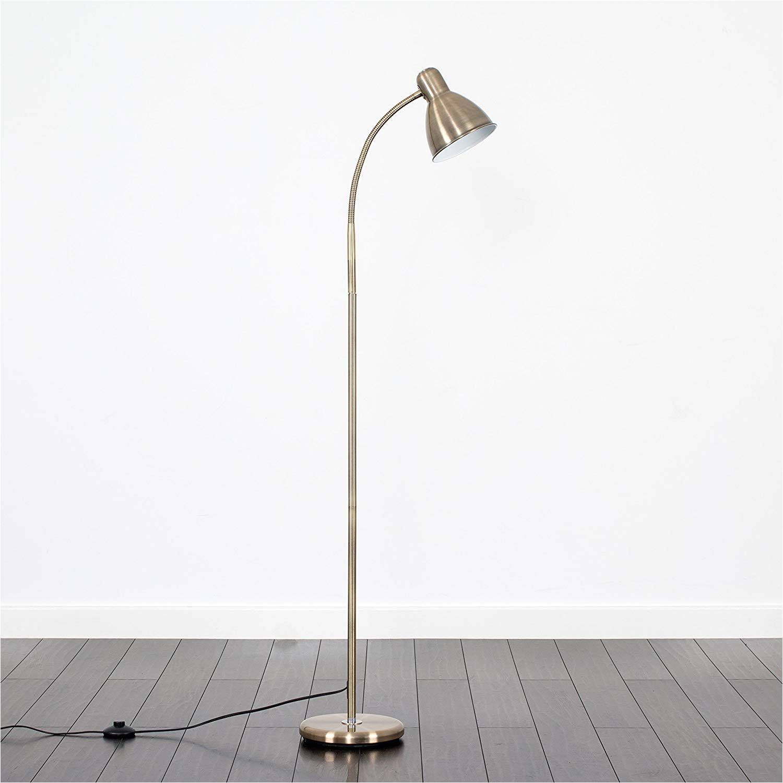 modern antique brass led adjustable reading craft floor lamp amazon co uk lighting
