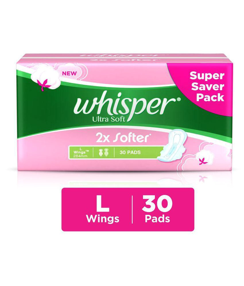 whisper ultra soft large sanitary pads 284mm