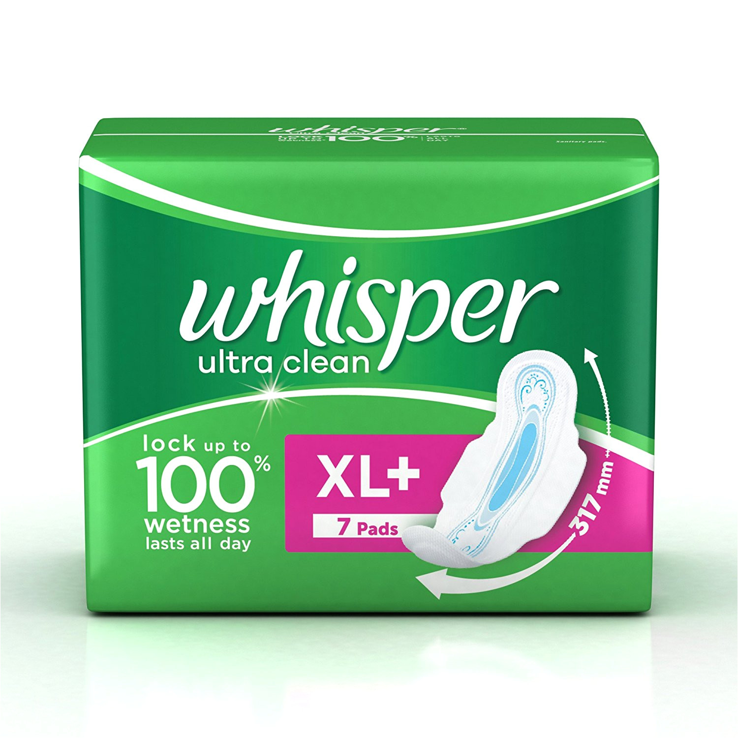 buy whisper ultra sanitary pads xl plus wings 7 count online at low prices in india amazon in