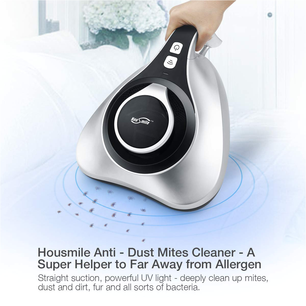 amazon com housmile upgraded uv anti dustmite vacuum cleaner with 10 5 kpa advanced hepa filtration and double powerful brushes effectively removes