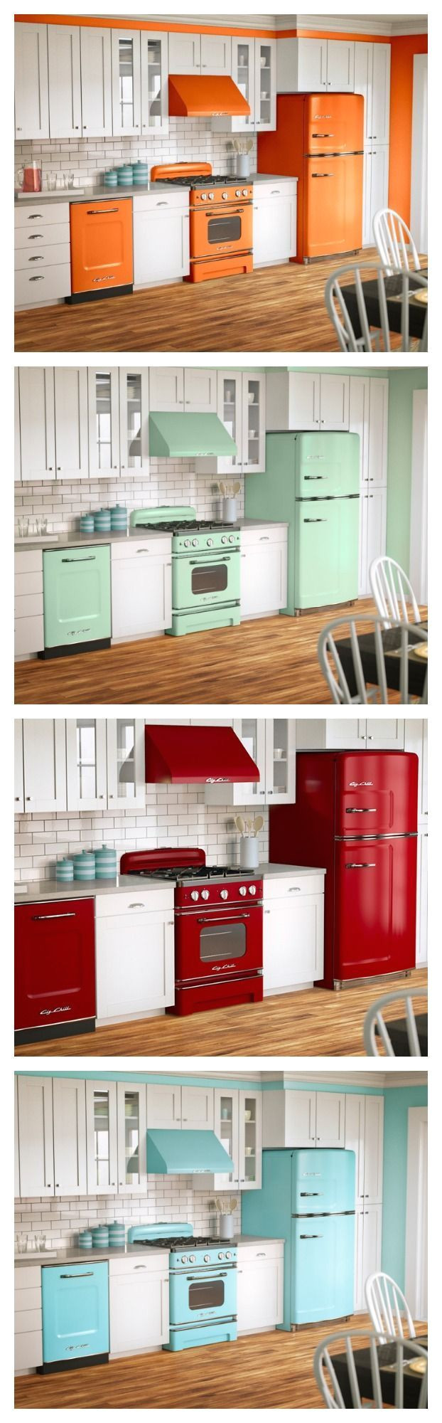 fun colors big style in a retro design fall in love with your kitchen