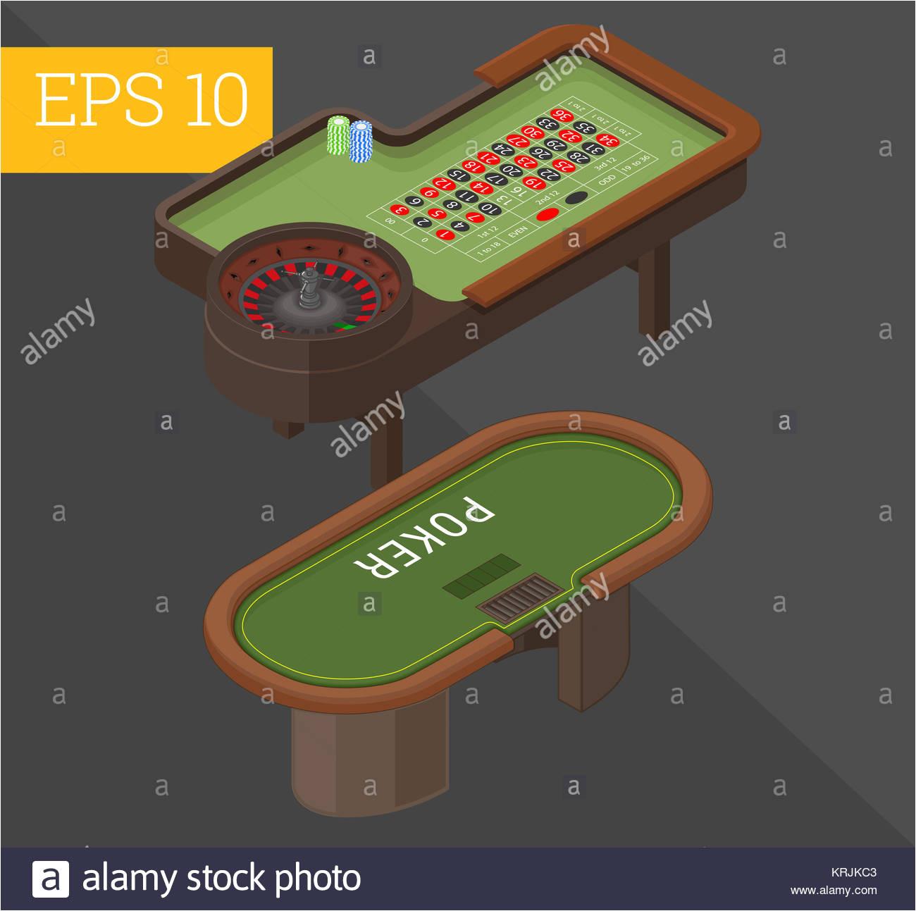 glucksspiel tabellen isometrische vektor illustration stockbild