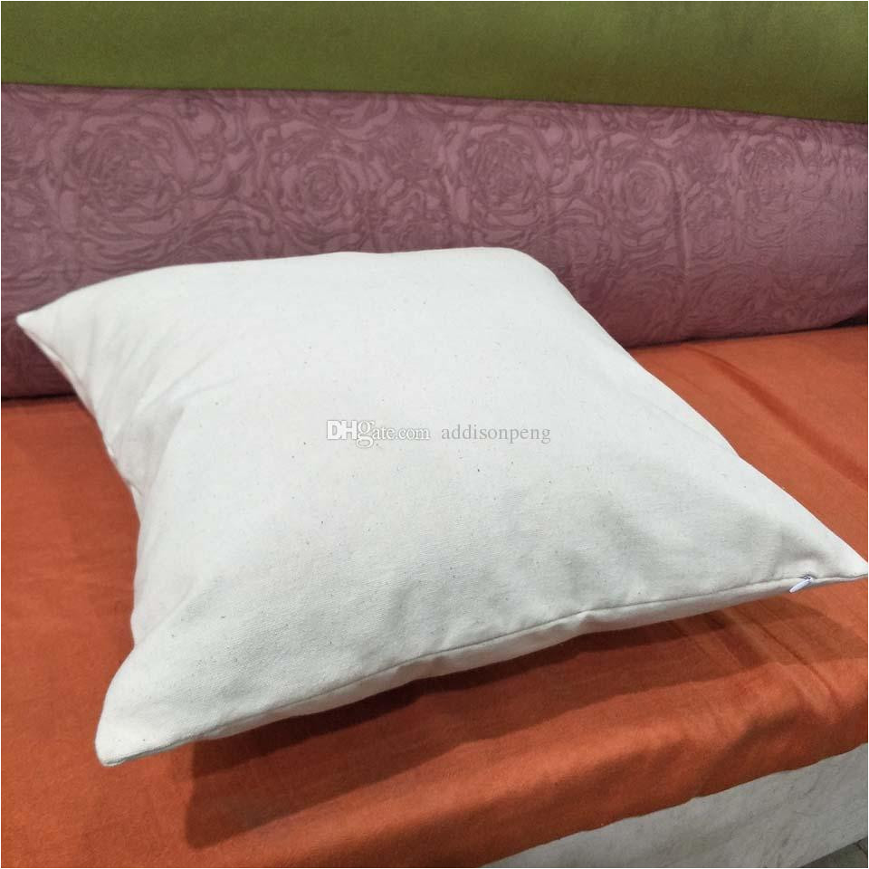 blank 12oz natural cotton canvas pillow case 18 18in raw cotton canvas diy blank pillow