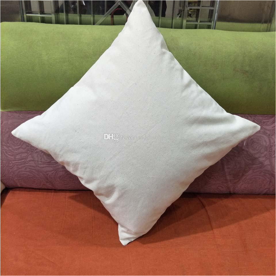 blank 12oz natural cotton canvas pillow case 18 18in raw cotton canvas diy blank pillow cover directly from factory blank cotton canvas pillow case diy
