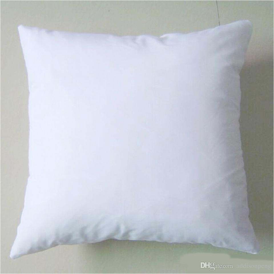 plain white diy blank sublimation pillow case poly pillow cover 150gsm fabric 40cm square white pillow case for diy print paint diy sublimation pillow case