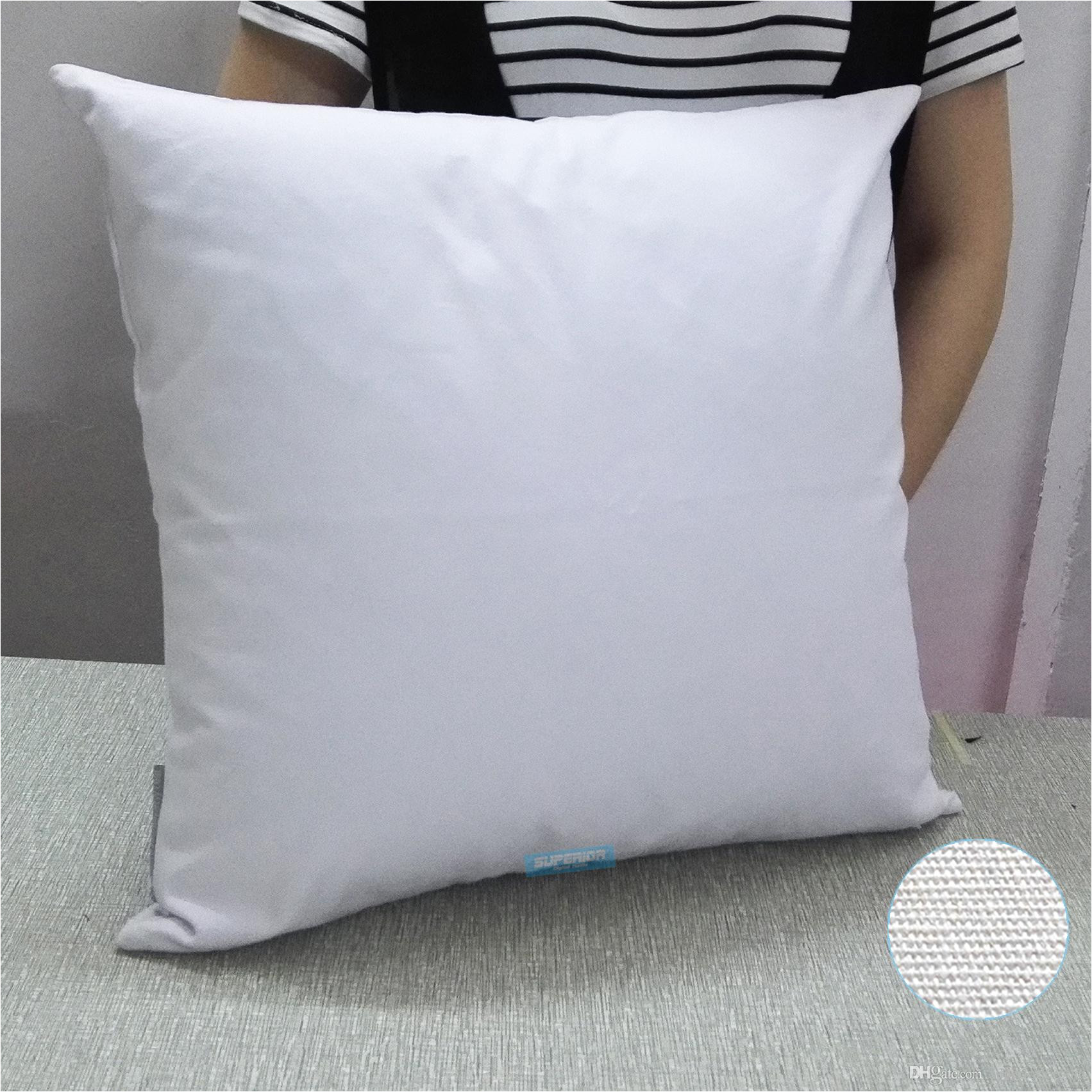 19x19 inches 8oz white or natural cotton canvas blank pillow cover clean surface perfect for stencils painting embroidery htv patio furniture seat