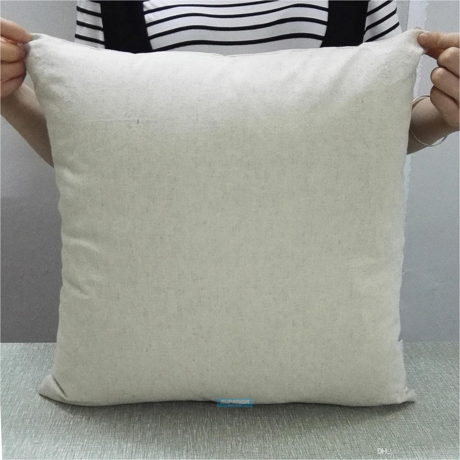 Blank Throw Pillow Covers wholesale All Sizes Plain Natural Gray Linen Cotton Blended Pillow Cover