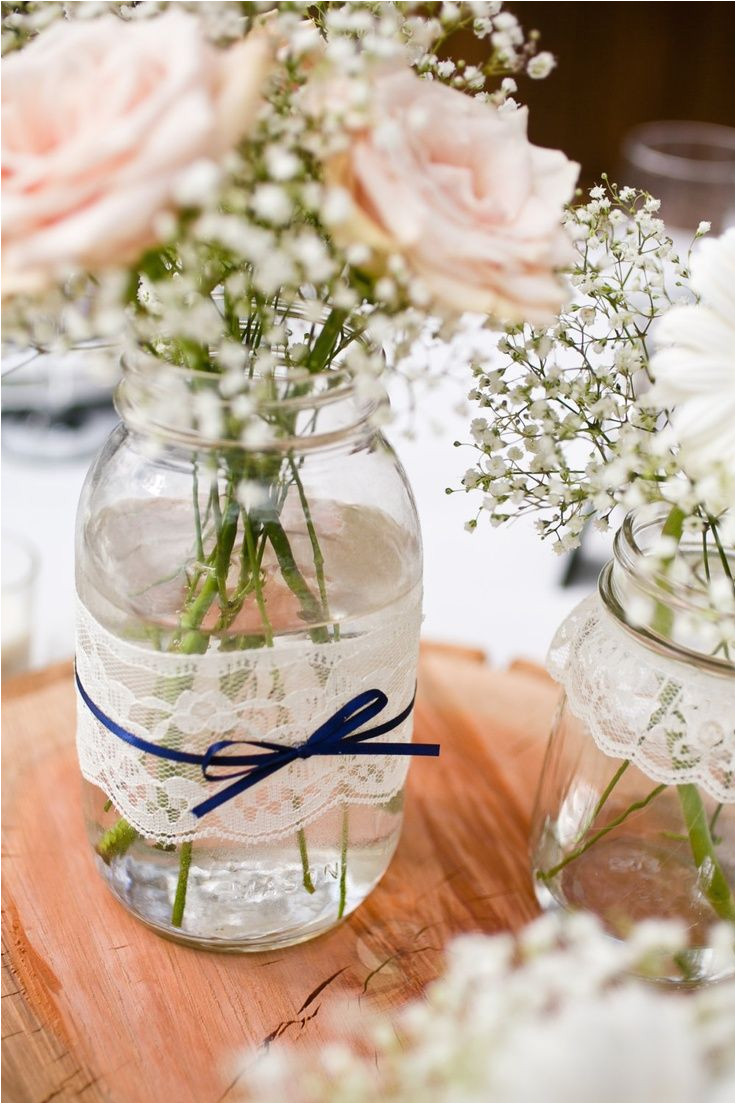 mason jars with pearls and lace lace and pearl mason jars full centerpiece i need to practic