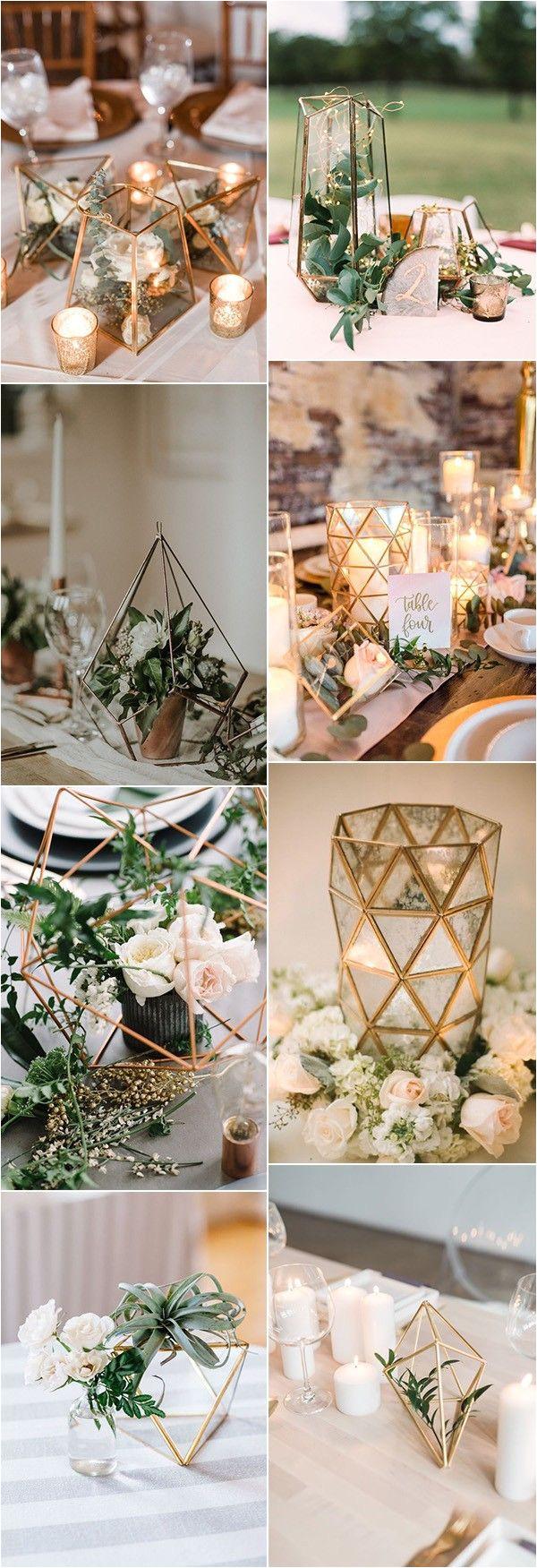 trending 20 industrial geometric wedding centerpieces for 2019 decorar casa pinterest boda novios y vestidos de novia