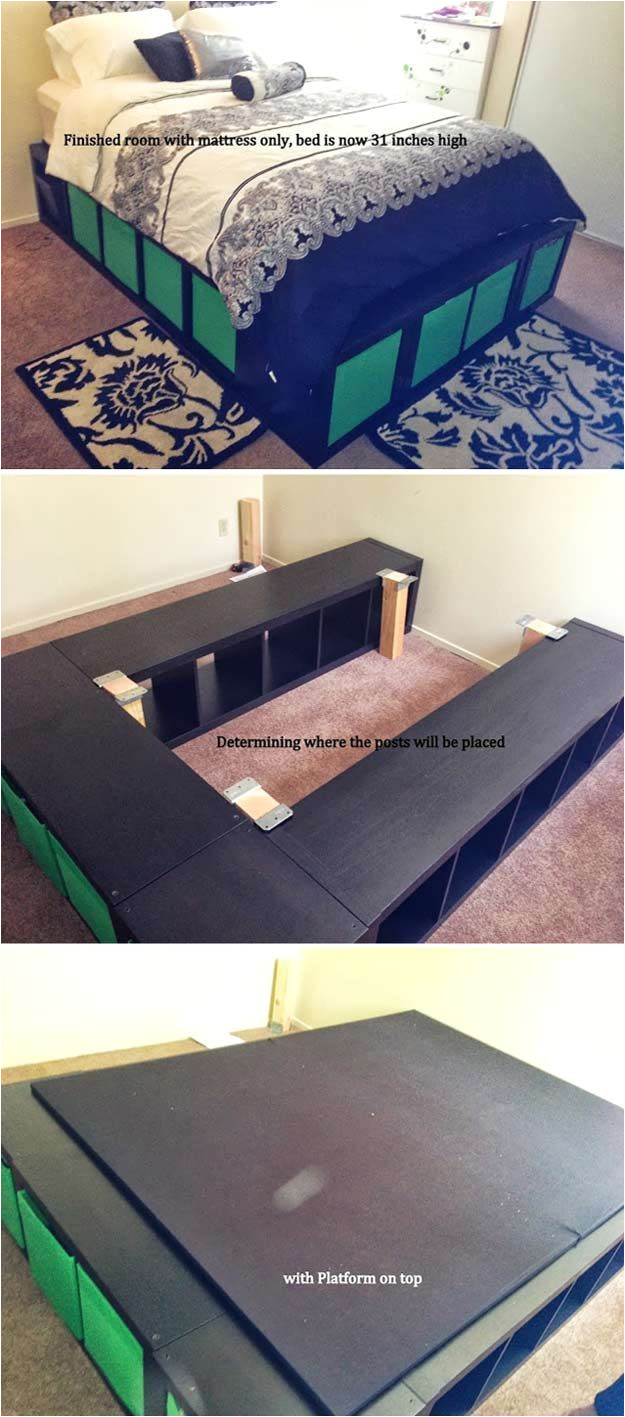 expedit queen platform bed creative pieces of wood for a new bedroom with a storage by diy ready at http diyready com 14 diy platform beds