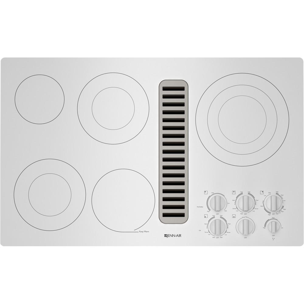 jenn air 36 downdraft radiant cooktop frost white