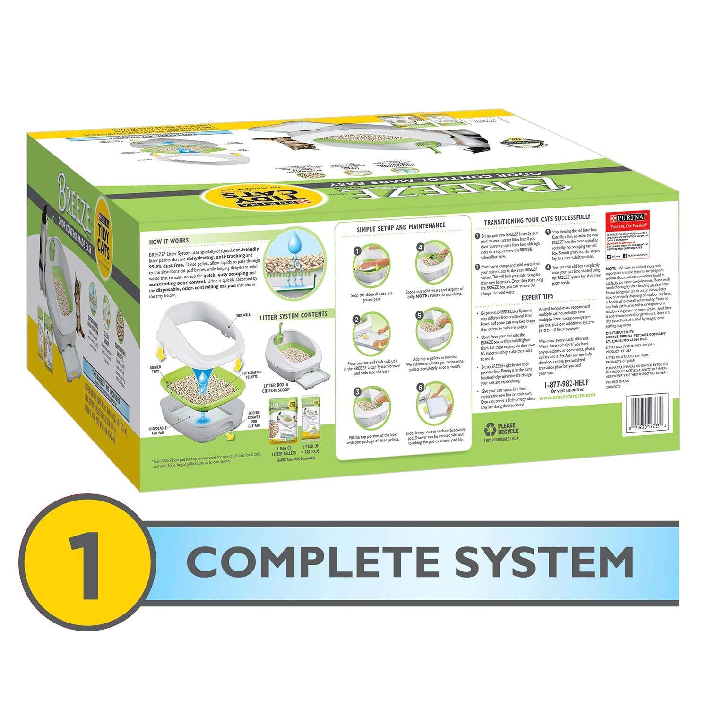 amazon com breeze cat litter box starter kit for multiple cats box pet supplies