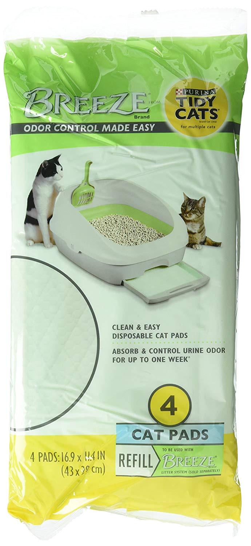 amazon com tidy cat breeze cat refill pads 16 9 x 11 4 4 packs 4ct cat litter pet supplies