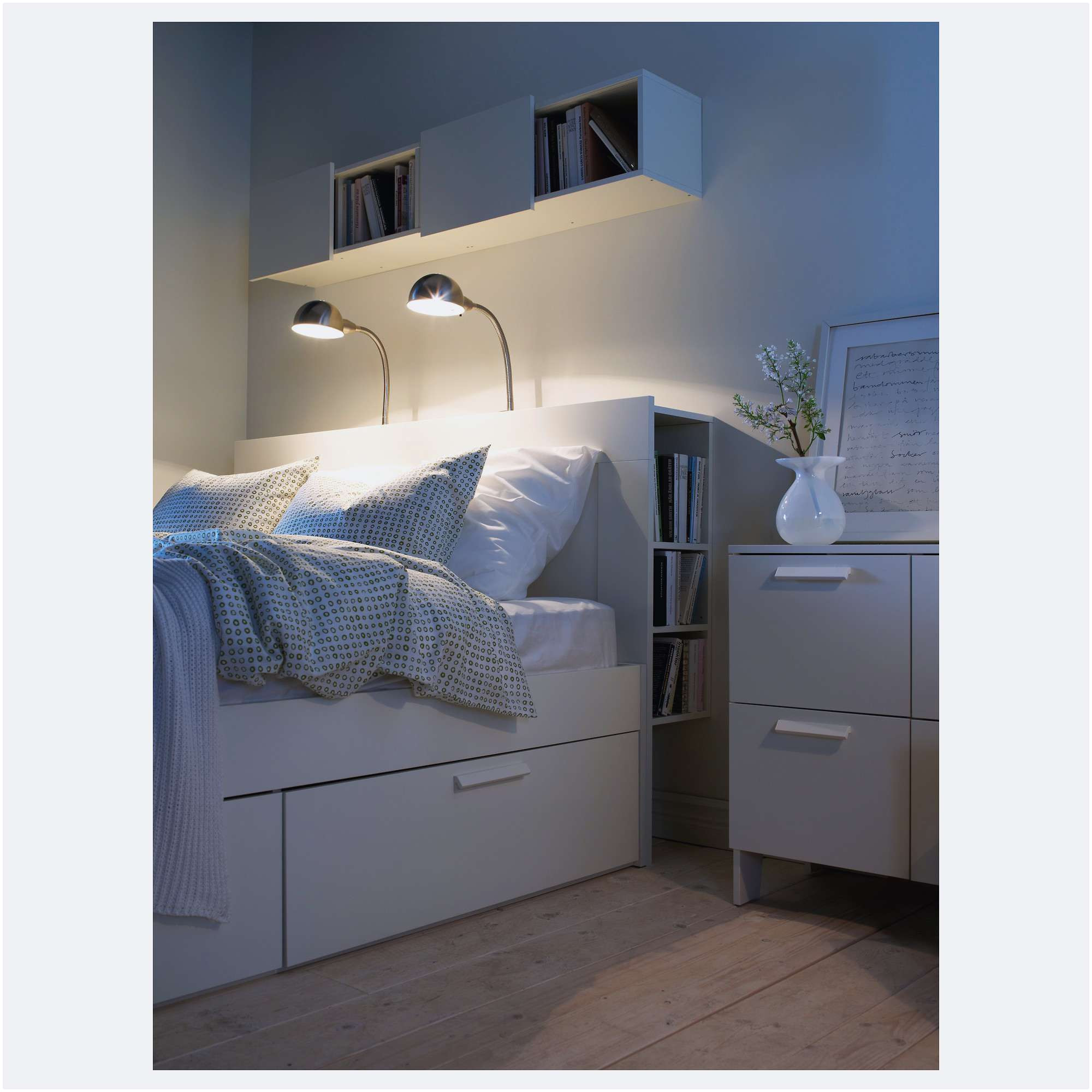 elegant bedrooms extra storage space under the bed from brimnes bed pour meilleur lit brimnes ikea