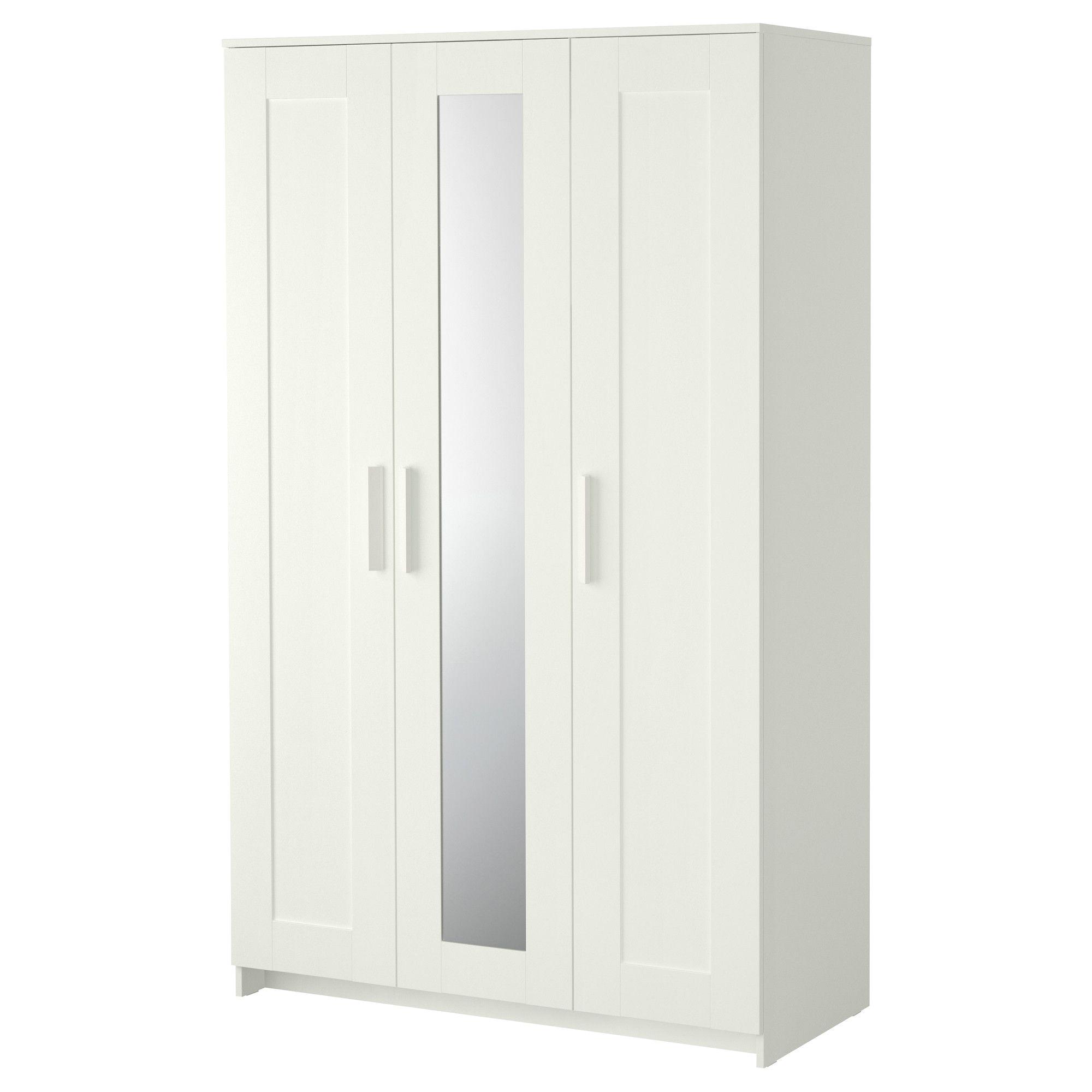 brimnes wardrobe with 3 doors white ikea