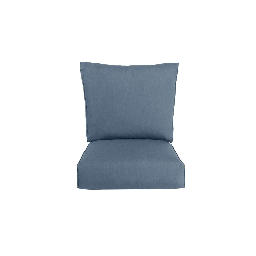 highland replacement outdoor lounge chair cushion in denim