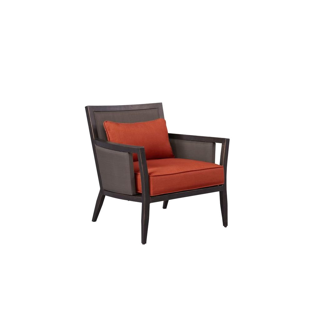 greystone patio lounge chair with cinnabar cushions custom
