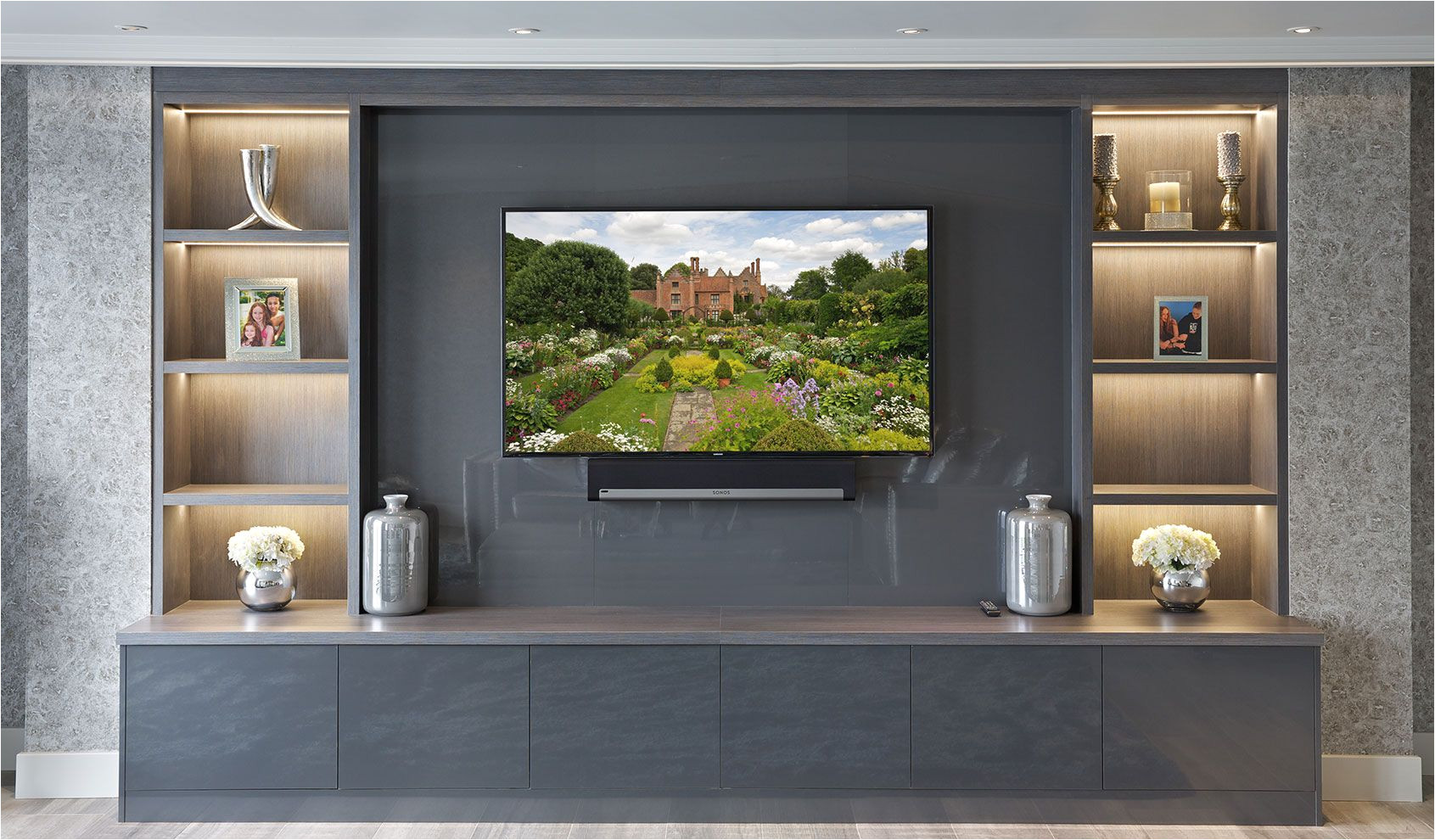 bespoke entertainment rooms and tv units by the wood works are designed for your ultimate enjoyment and the delight of your guests