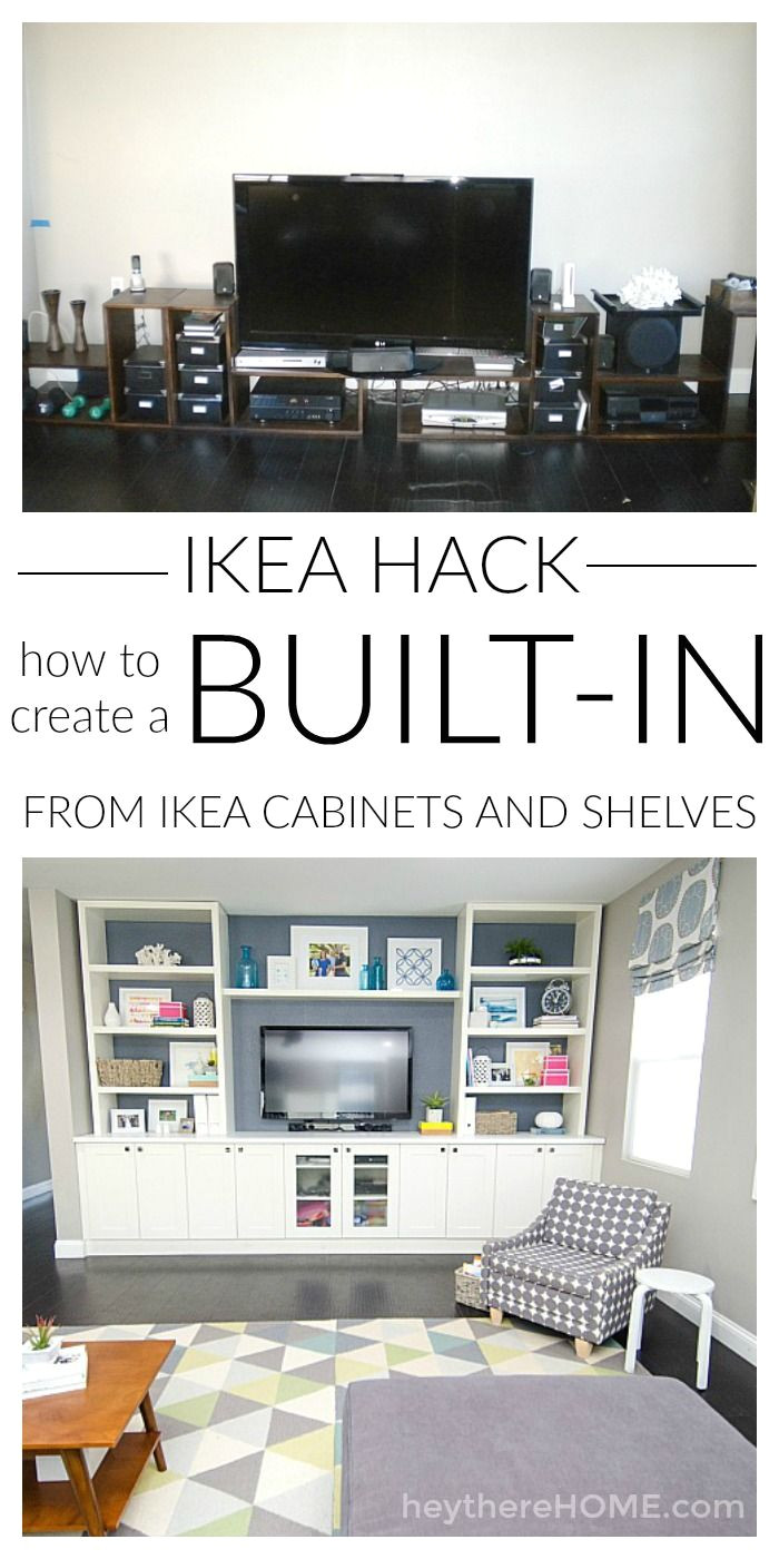 you can save so much money if you know how to create your own built in using ikea cabinets and shelves