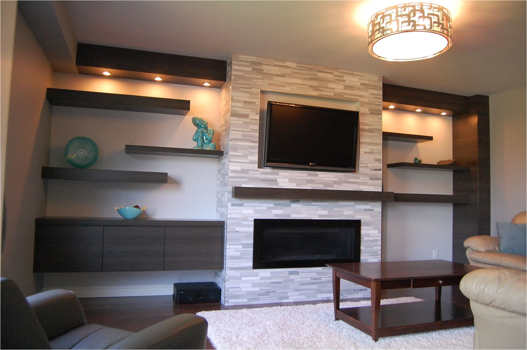 custom modern wall unit made completely from a printed melamine made from tafisa custommade com
