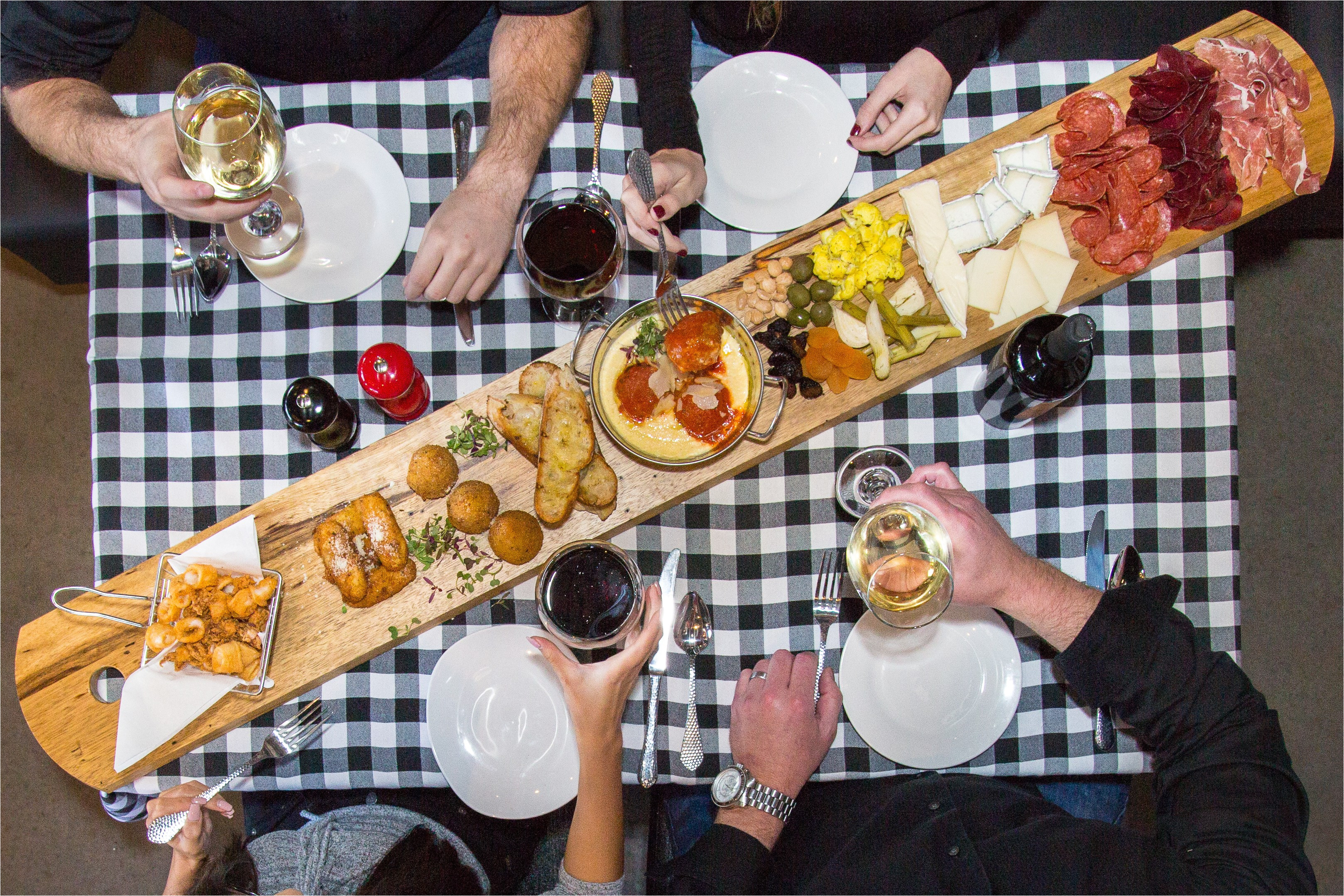 the charcuterie board at the sicilian butcher