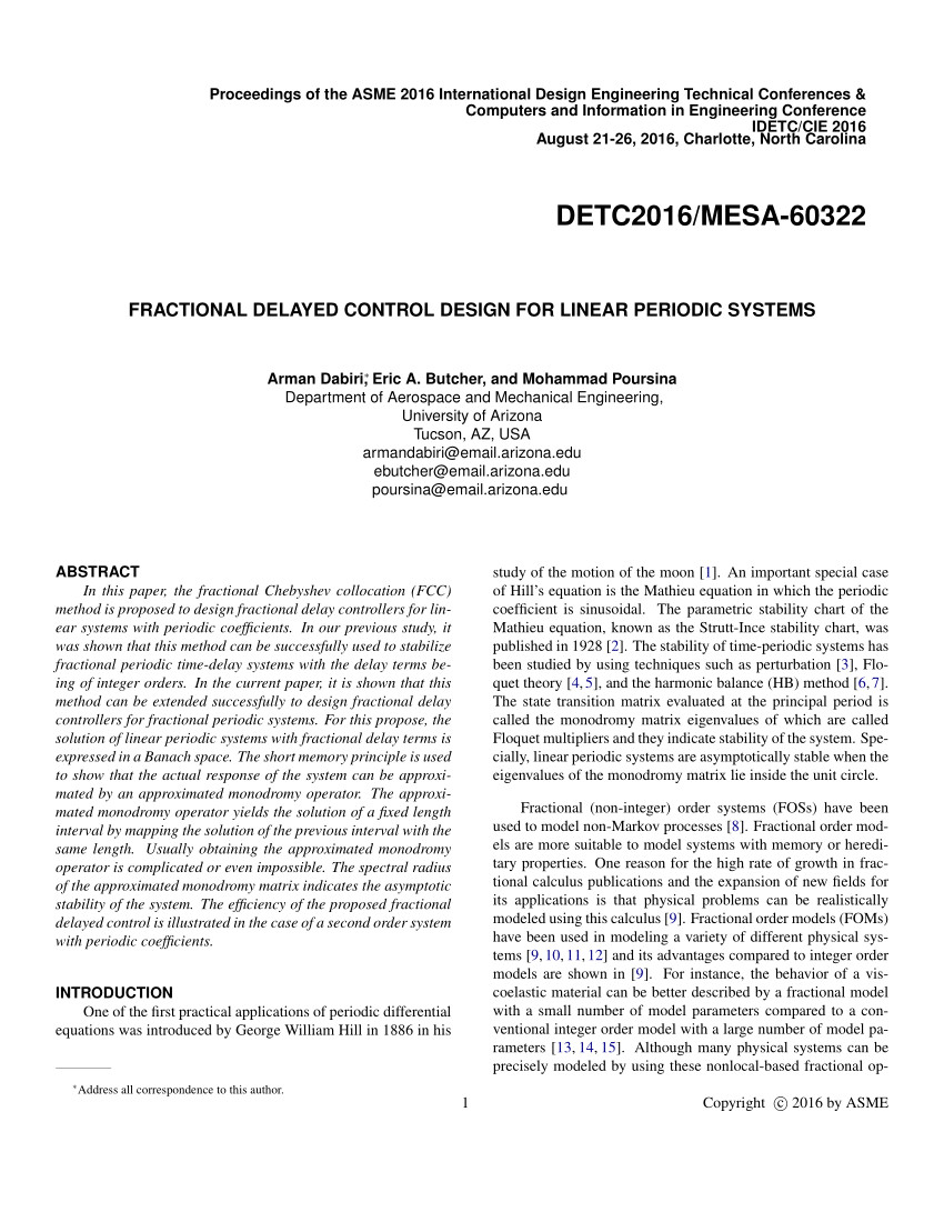 pdf fractional delayed control design for linear periodic systems