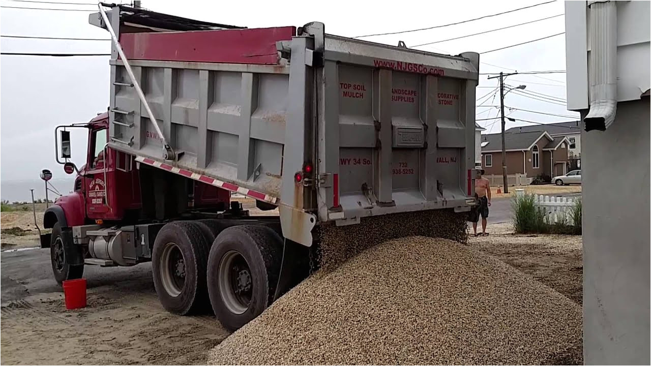 20 tons of stone delivered by dump truck